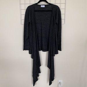 Allen Allen Drape Waterfall Open Front Sweater